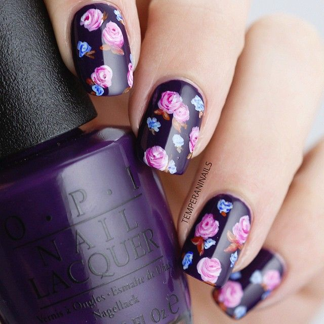 Lovely Floral Nails.