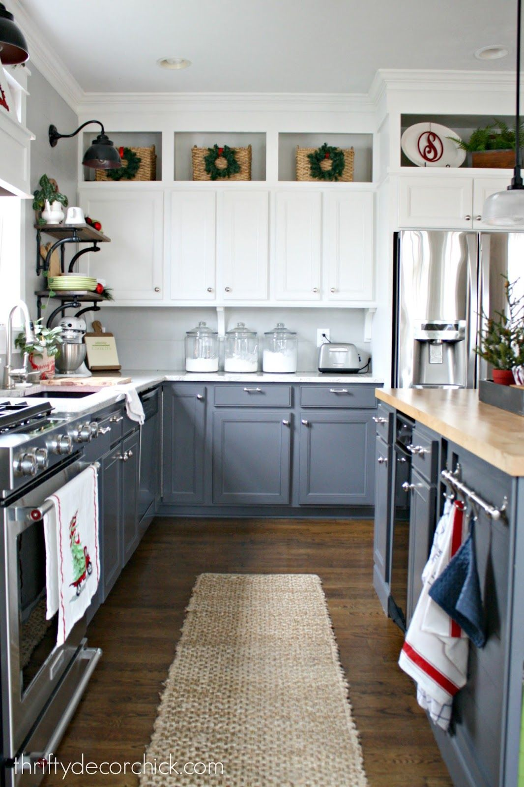 Best Christmas Home Tour Cabinets To Ceiling Kitchen Design 400 x 300