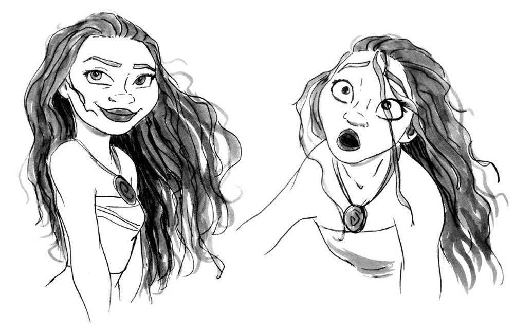 Moana Dibujos Colorear Princesa Disney: Princesa Moana Con Pelo Mojado De Disney