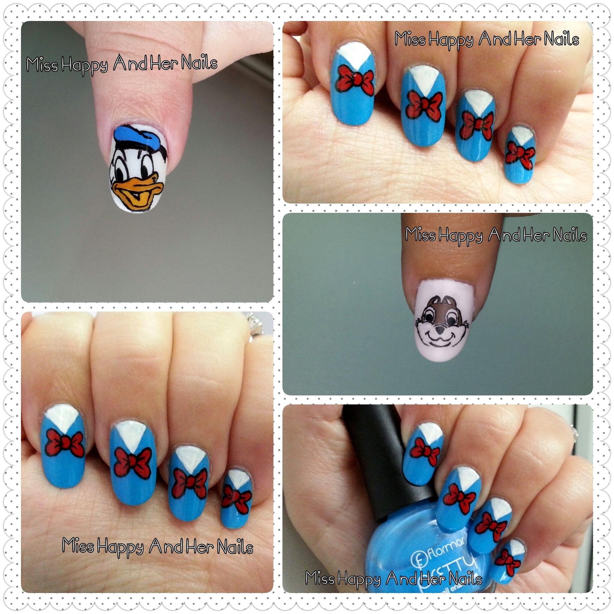 Cartoons nail art (Donald Duck) | nails | Pinterest | Donald duck ...