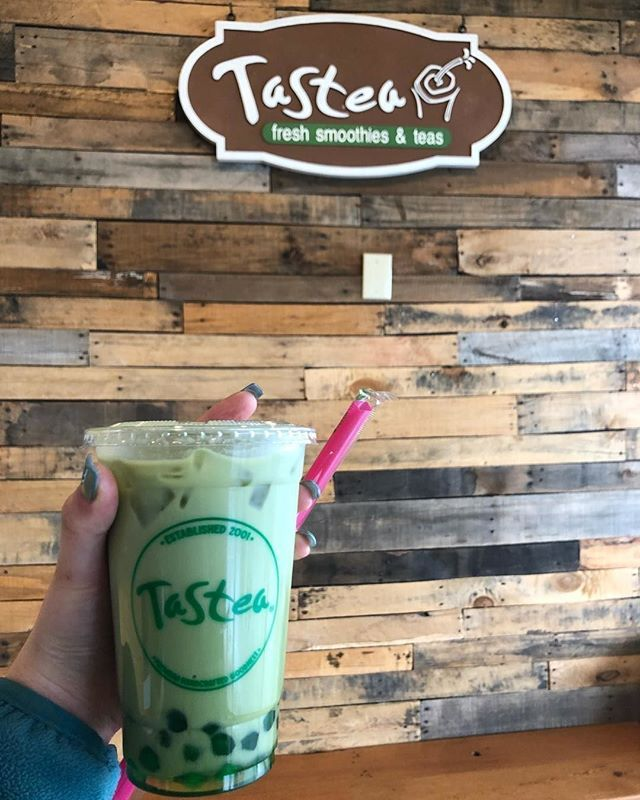 #Repost @keelseats . Matcha Boba W/ Almond Milk!! Why Is