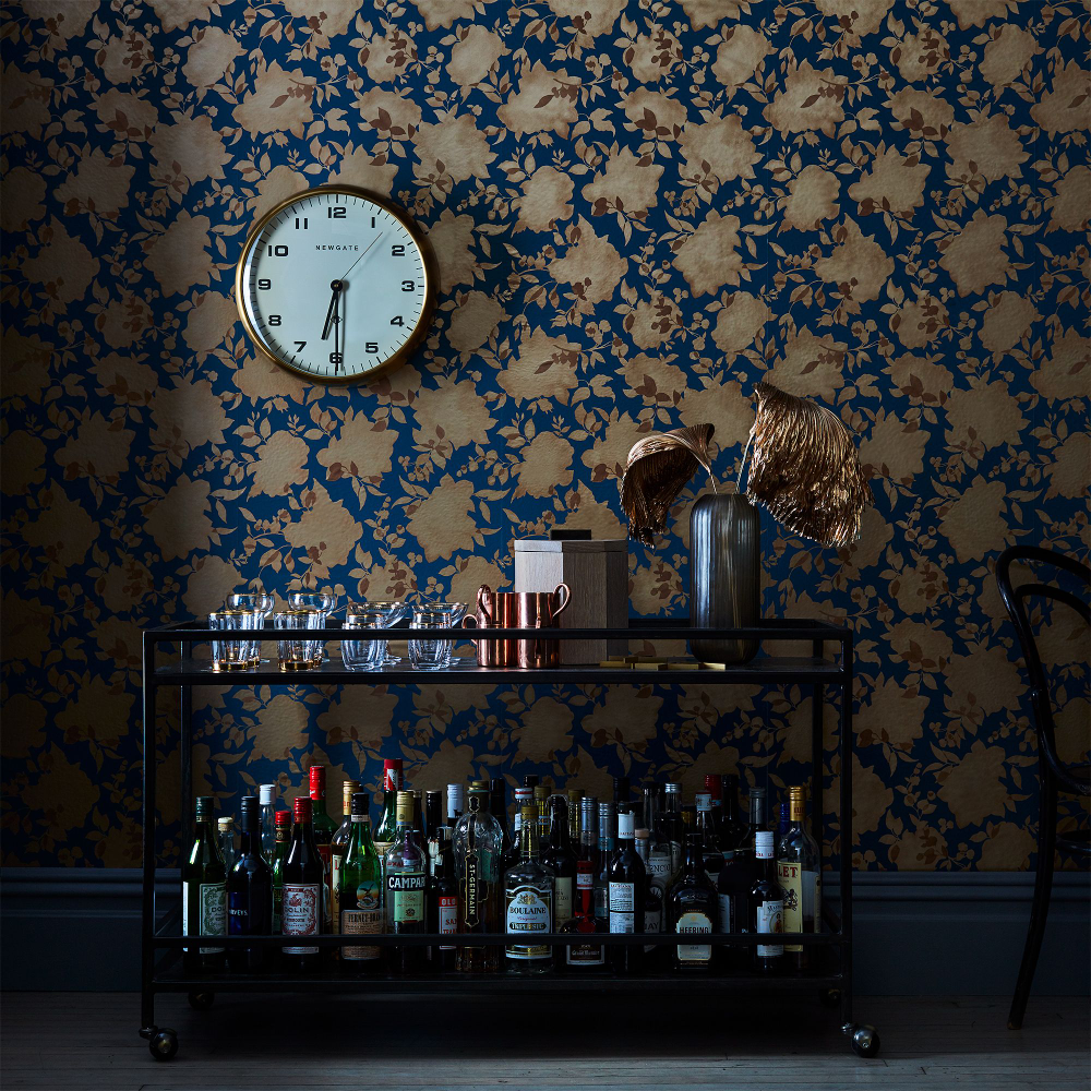 SelfAdhesive Wallpaper, Floral Silhouettes on Food52
