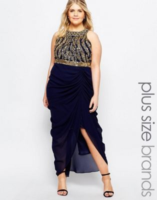 8109f8cd1a2 Virgos Lounge Plus Genevieve Maxi Dress