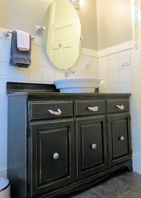 This Bathroom Vanity Used To Be A Dining Room China Hutch