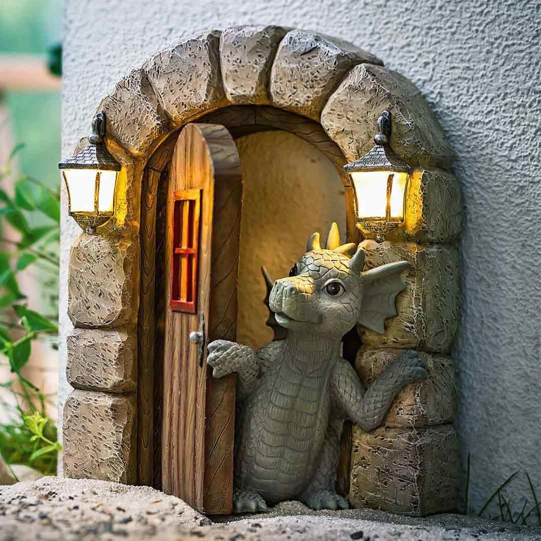 Lovely Courtyard Dragon Sculpture – A