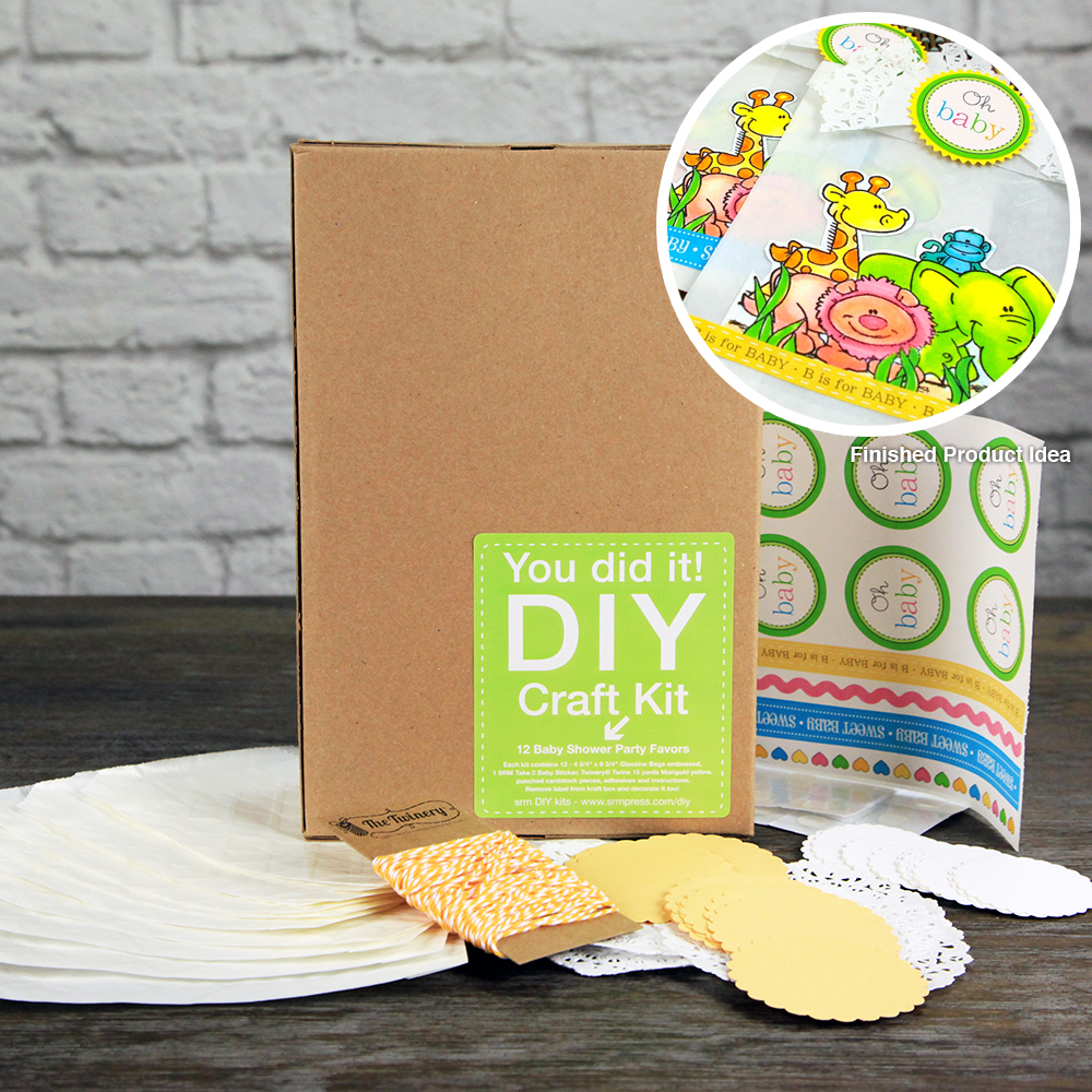 SRM Press Inc. - DIY Craft Kit - Baby Shower Party Favors at Scrapbook.com - Create your own baby shower favors using this adorable craft kit! Do it Yourself!