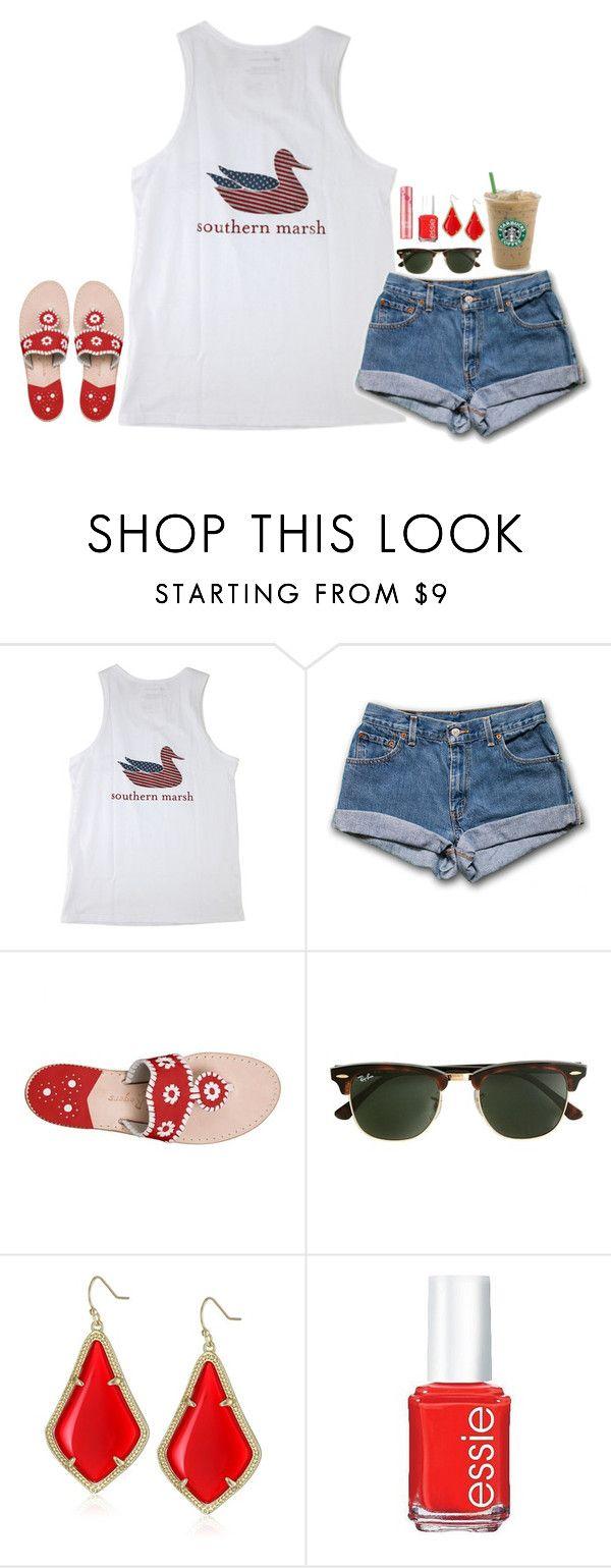 """""""fboys call me jaz"""" by jazmintorres1 ❤ liked on Polyvore featuring Jack Rogers, J.Crew, Kendra Scott, Essie and Benefit"""