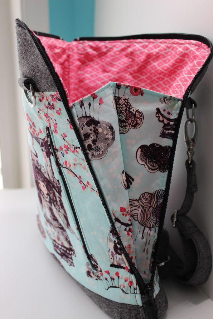 The Calla Convertible backpack - PDF Sewing Pattern | Taschen nähen ...