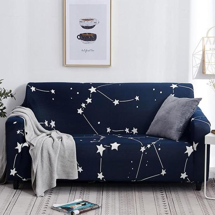 Dark Blue Star Constellation Print Sofa Couch Cover In 2020 Sofa
