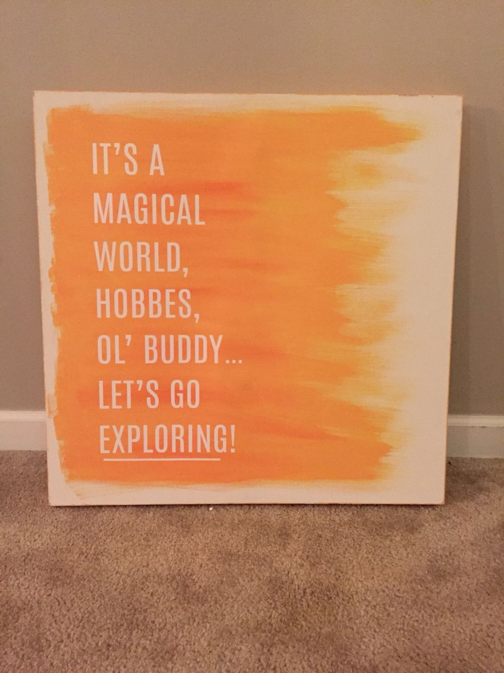 gender neutral artwork.... DIY canvas art.. Closing quote from ...