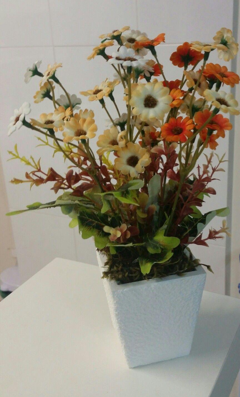 Arranjo De Flores Artificiais Para Banheiro Lavabo Com Imagens