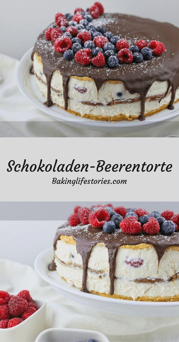 Schokoladen-Beerentorte #cookiesandcreamcake
