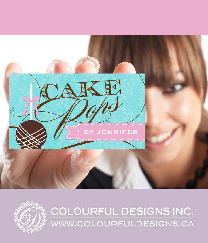 Fully Customizable Cake Pop Business Card Template ~ Designed by ...