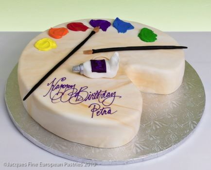 Artists Palette Cake ideas Pinterest Cake Artist cake and