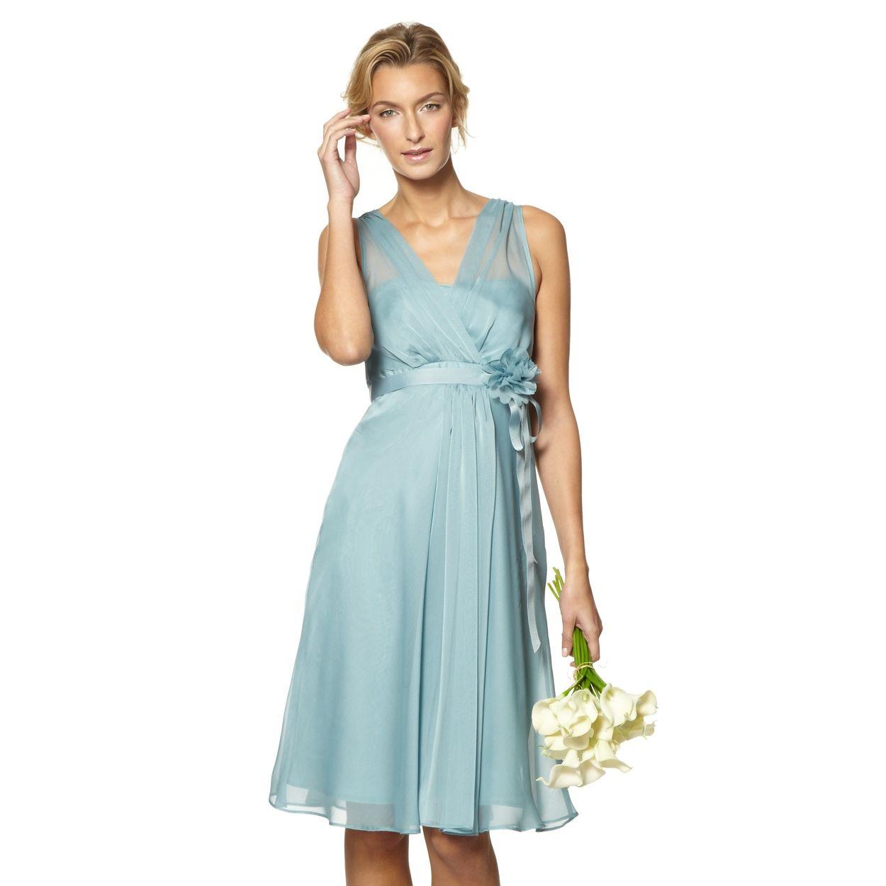 DEBUT Pale green chiffon waterfall dress- at Debenhams.com | For the ...