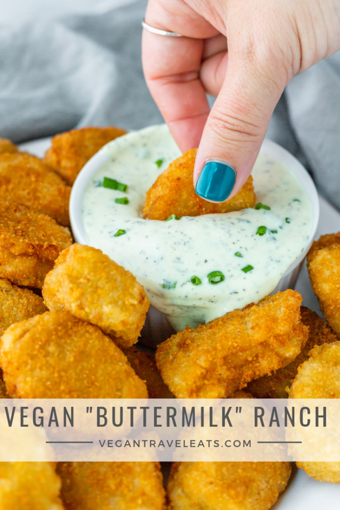 Vegan Buttermilk Ranch Dressing Recipe In 2020 Buttermilk Ranch Dressing Vegan Recipes Food