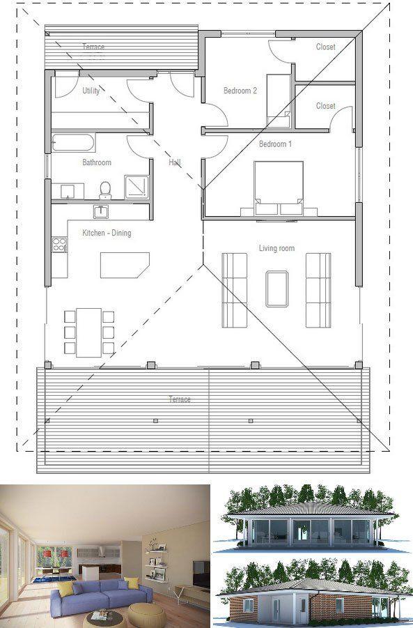 Small House Ch221 House Plans Small House Plans Dream House Plans