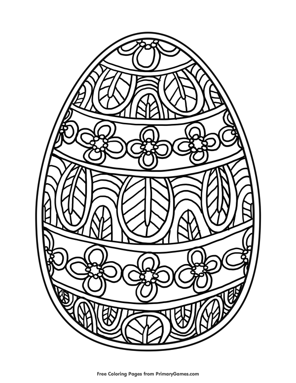 Easter Egg Coloring Page • FREE Printable eBook ...