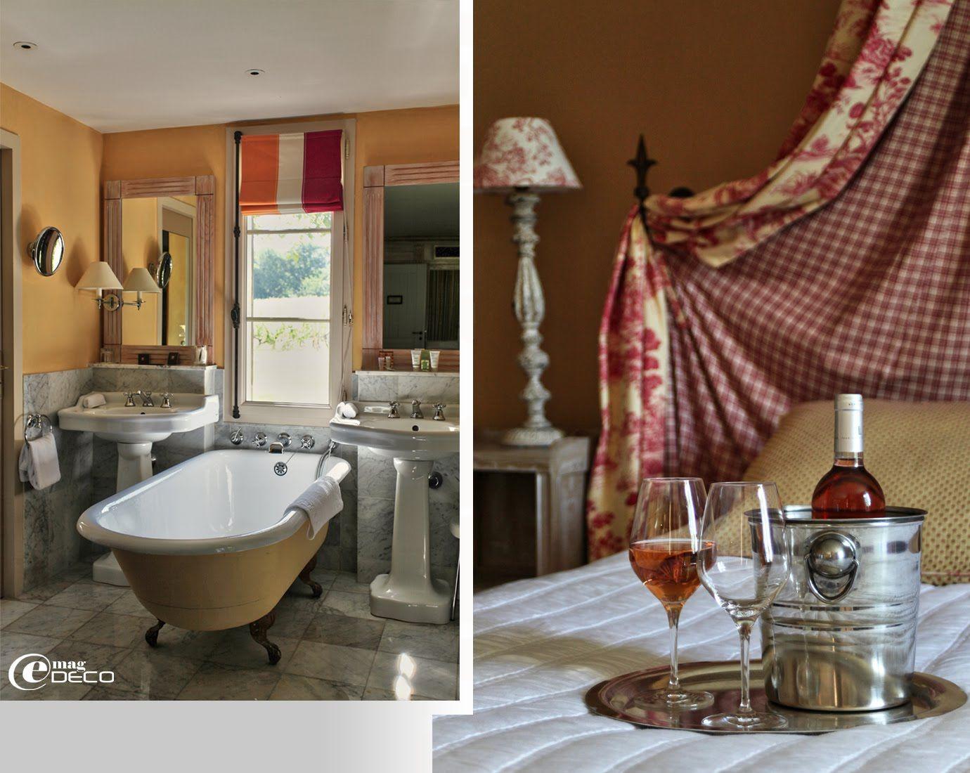Salle de bain r tro les sources de caudalie tablissement h telier 5 toiles pr s de bordeaux - Salle de bain bordeaux ...