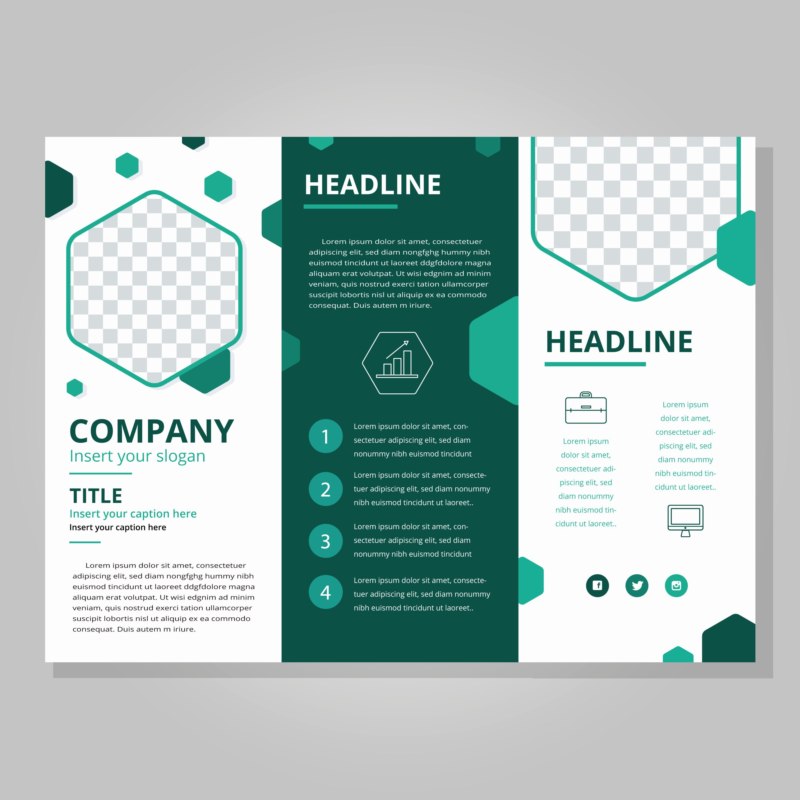 Tri Fold Brochure Template Powerpoint Awesome Modern Tri Fold Brochure Template Downl In 2020 Brochure Design Template Free Brochure Template Trifold Brochure Template