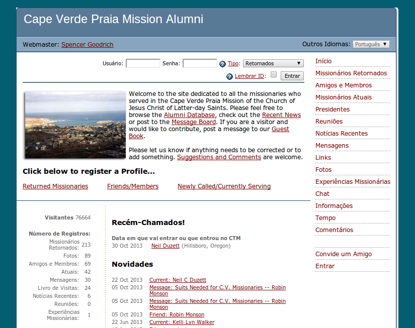 An alumni website for the Cape Verde LDS Mission. | missionary mom ...