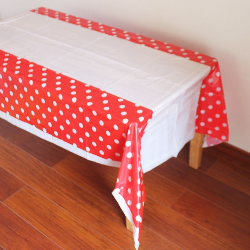 Disposable Plastic Table Cloth Dot Table Cover Tablecloth Waterproof For Kids Birthday Party De Kids Birthday Party Decoration Kids Birthday Party Table Covers
