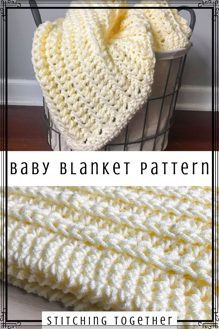 Chunky Baby Blanket Crochet Pattern  Chunky Baby Afghan   PDF Download