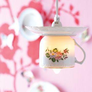 tea cup light via ideas mag
