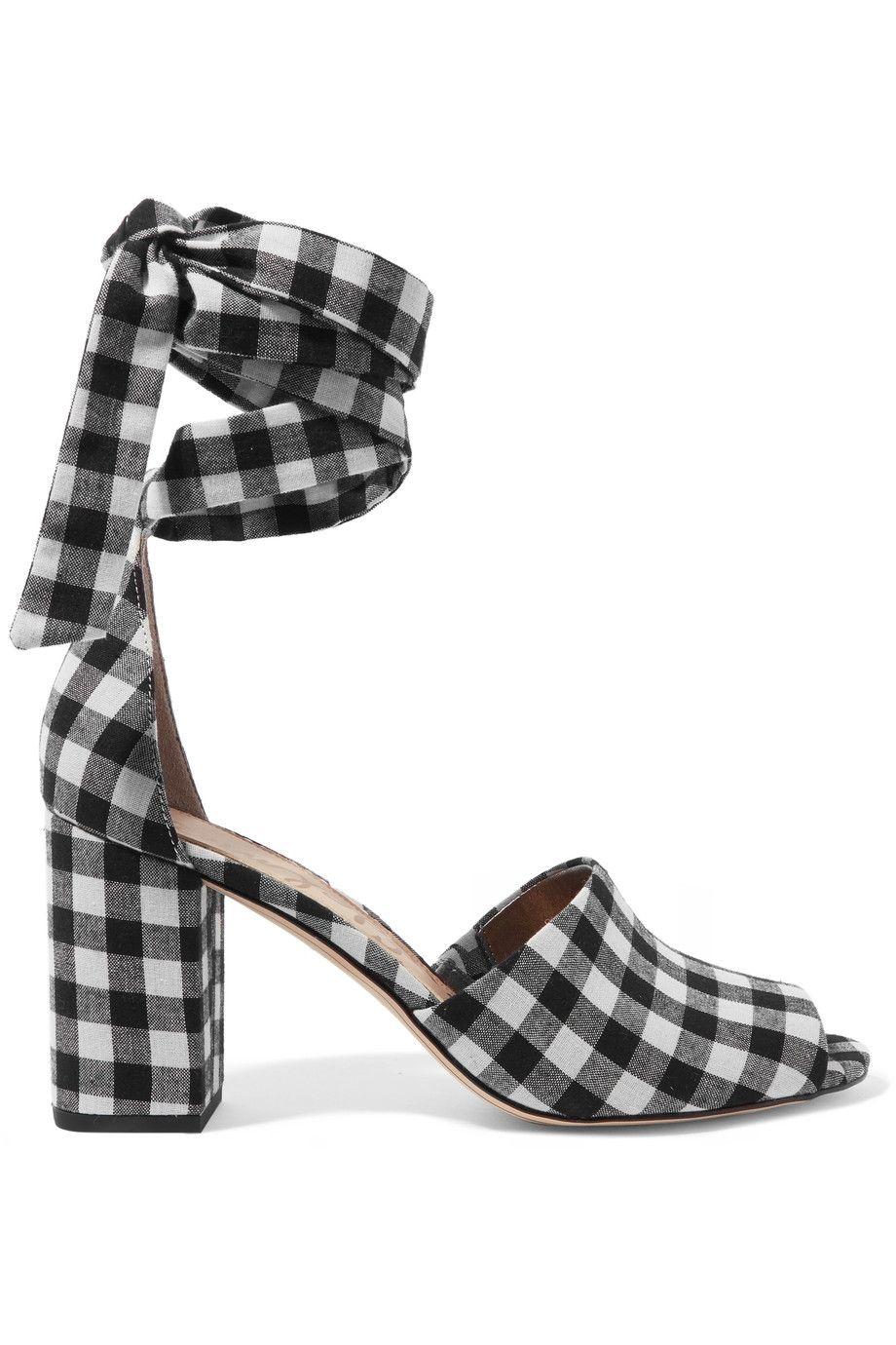 8b43539ec3f SAM EDELMAN Odele gingham canvas sandals