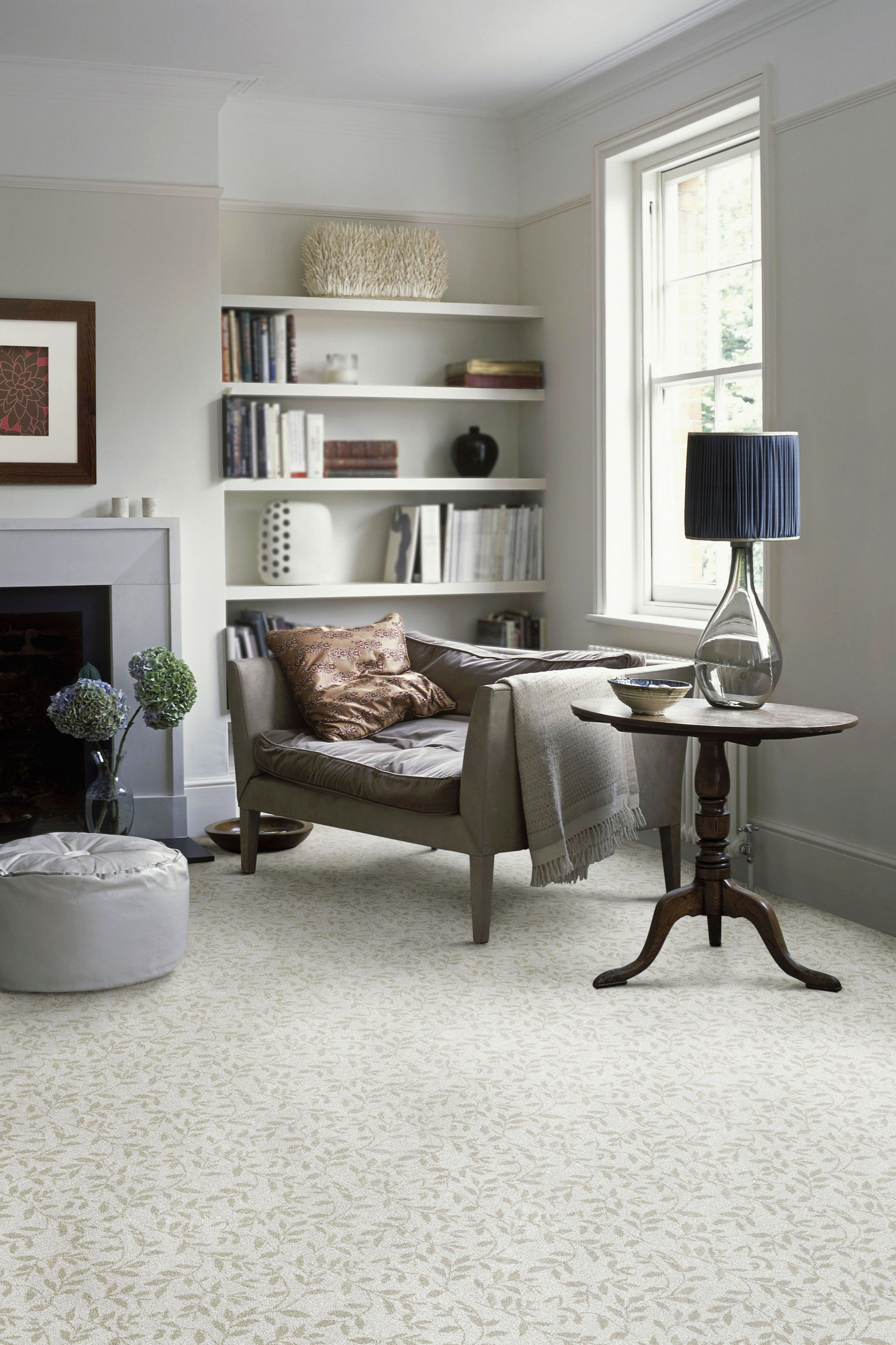 Grey walls and carpet with beige undertones Floating