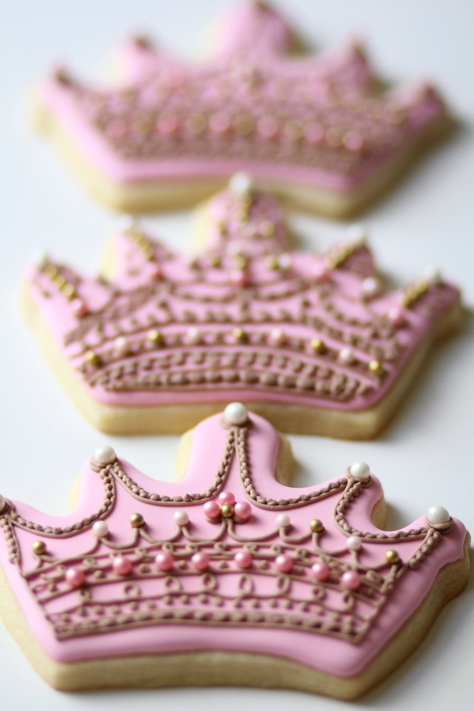 Crown & Number Sugar Cookies (2 dozen). $75.00, via Etsy. | Birthday ...