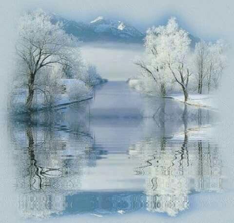Beautiful winter my favorite time of the year en 2019 winter christmas scenes winter scenes - Paysage enneige dessin ...