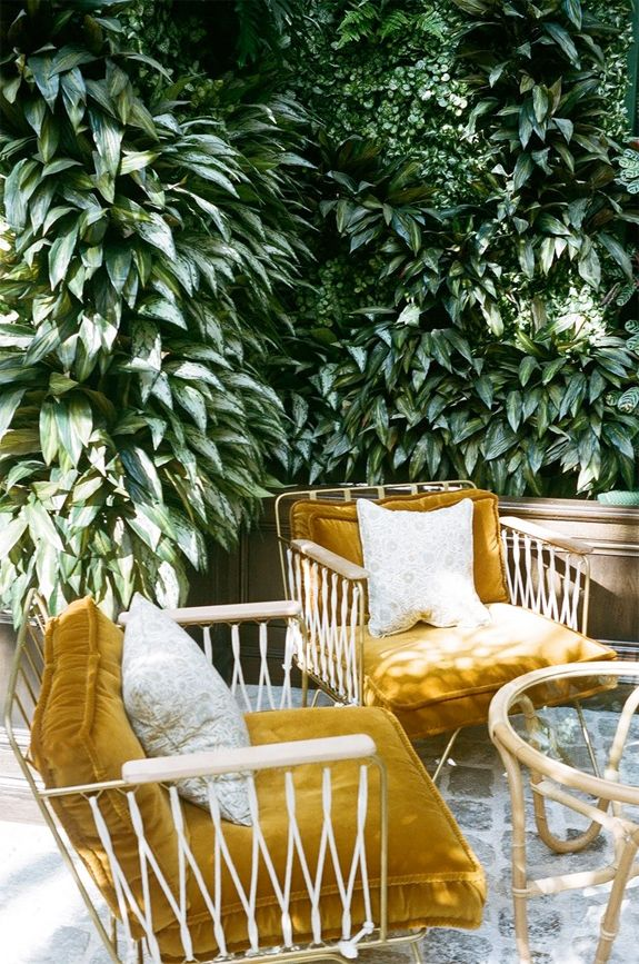 Mustard Yellow Velvet Patio Chair Cushions Sfgirlbybay Garden