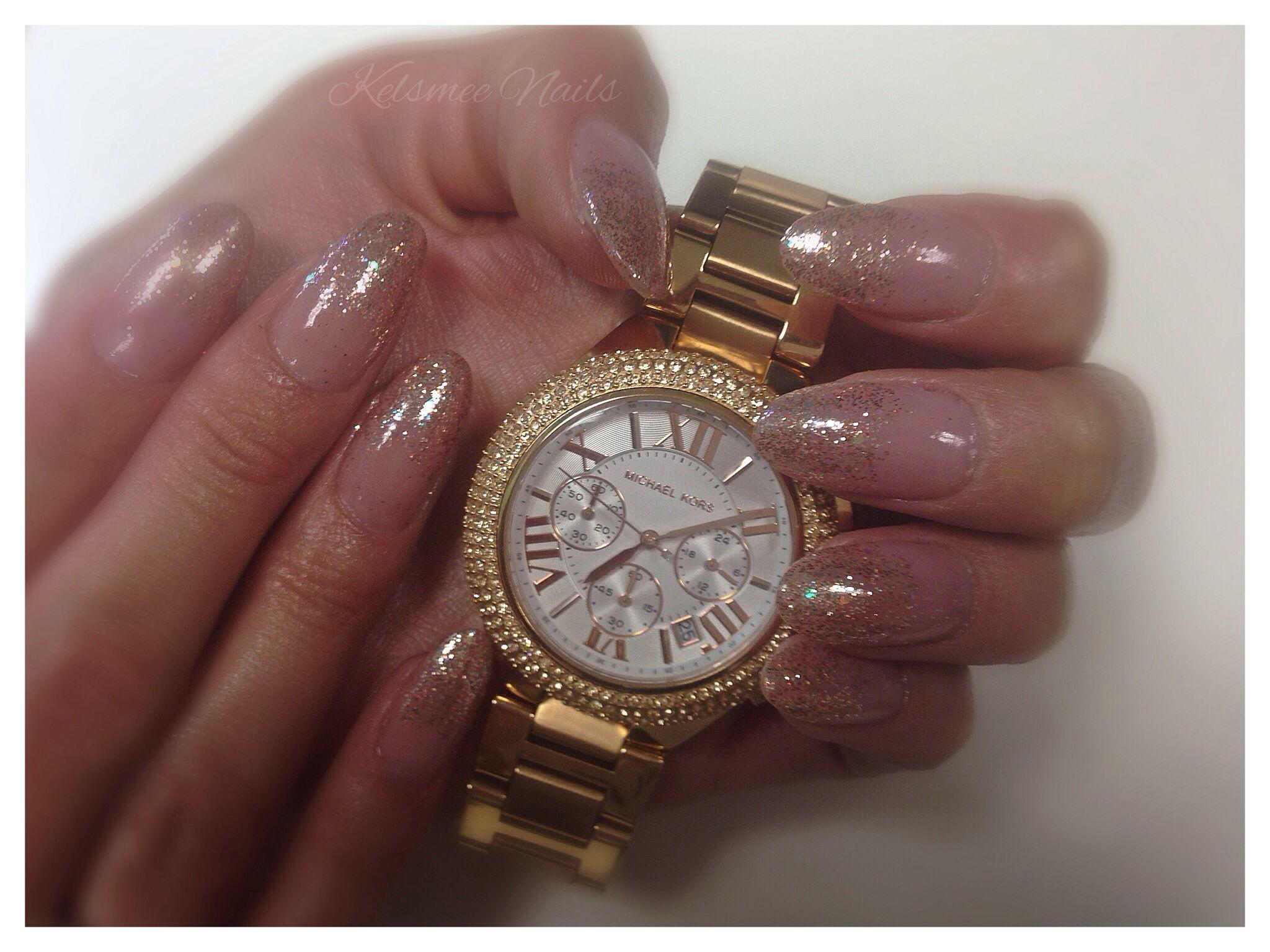 Young Nails ManiQ glitter Michael Kors | Nail Art Community Pins ...