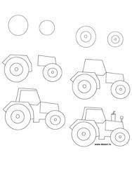 Draw Tractor Race Cars Pinterest Cómo Dibujar Aprender A