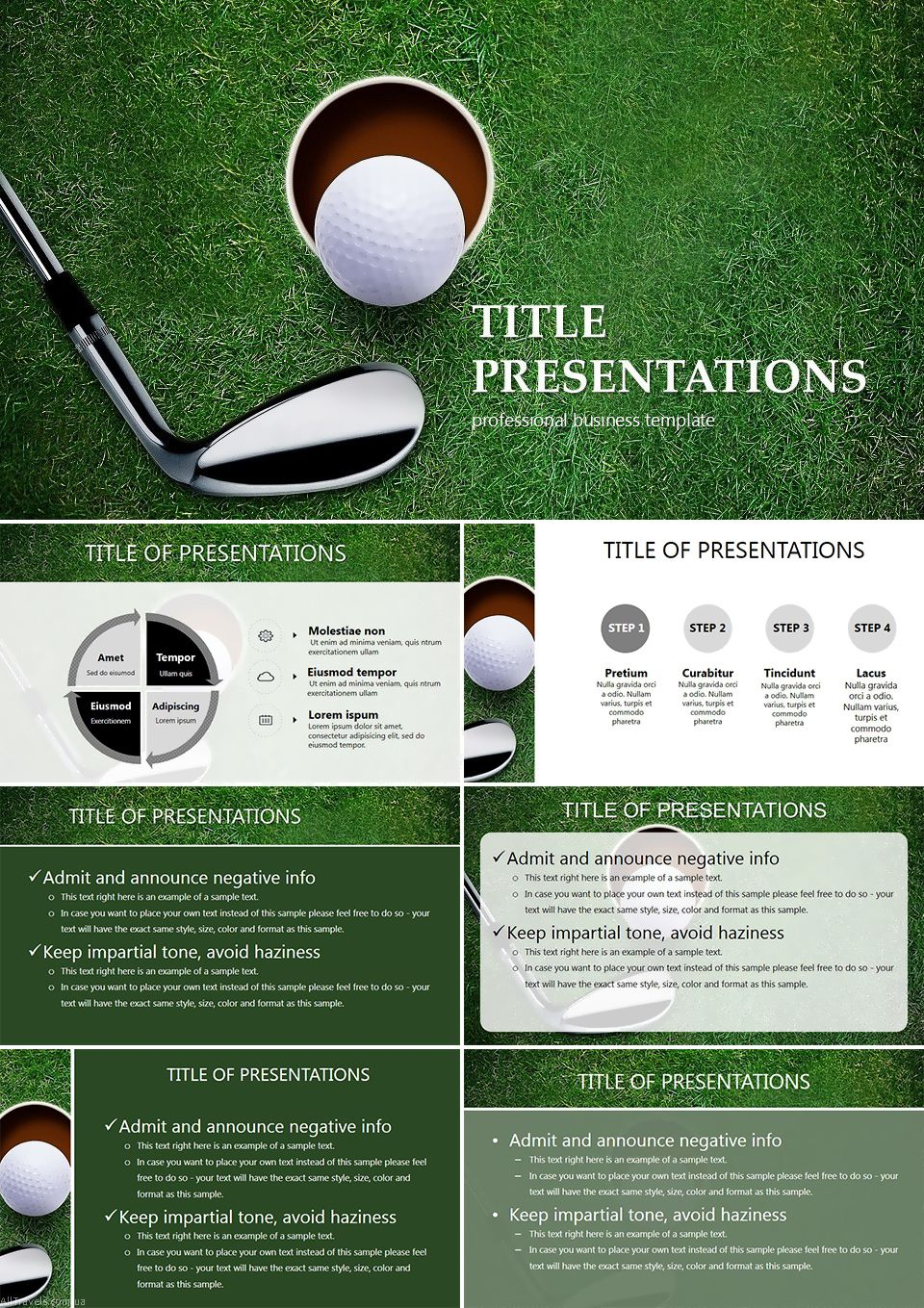 rules of the games - golf powerpoint templates | powerpoint, Modern powerpoint