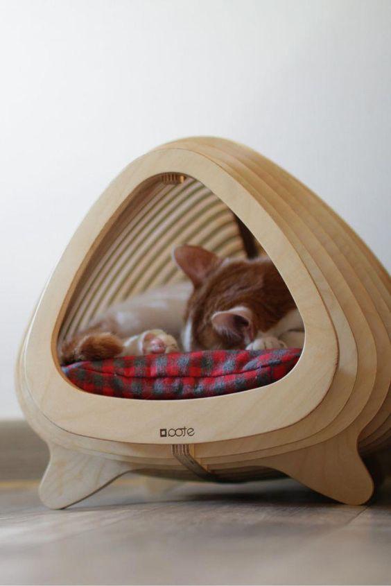 أفكار لتصميمات أماكن للقطط في المنزل Pet Furniture Cat Houses Indoor Cat Bed
