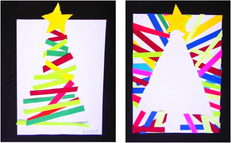 Christmas Preschool Art Projects.Christmas Tree Art For Kids Elementary School Art Lesson