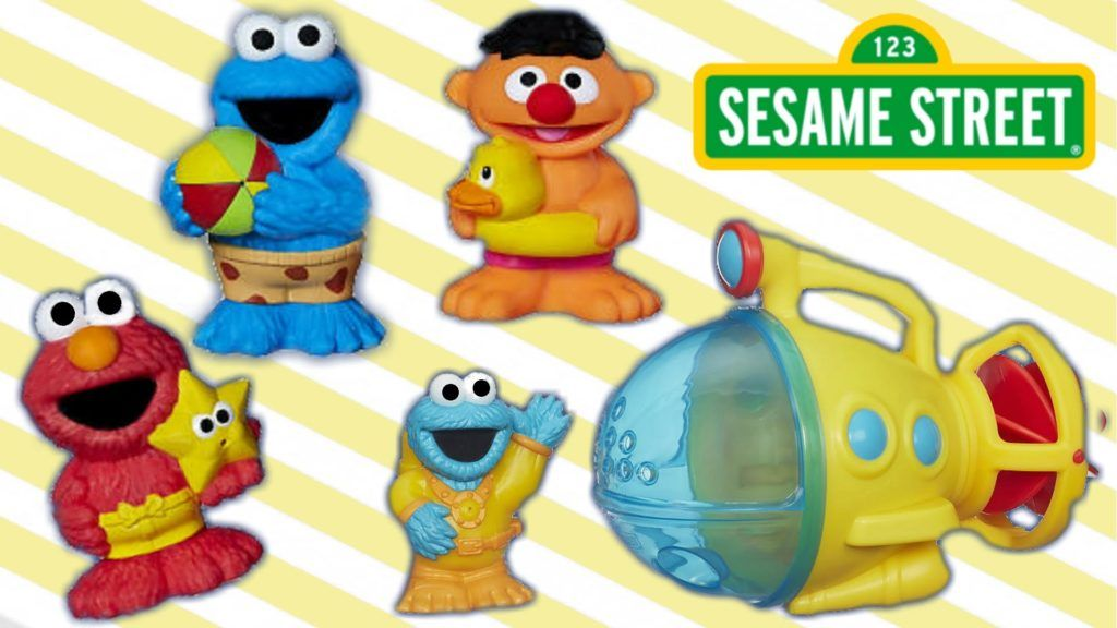 Sesame Street Bath Time Fun Cme Fun Set