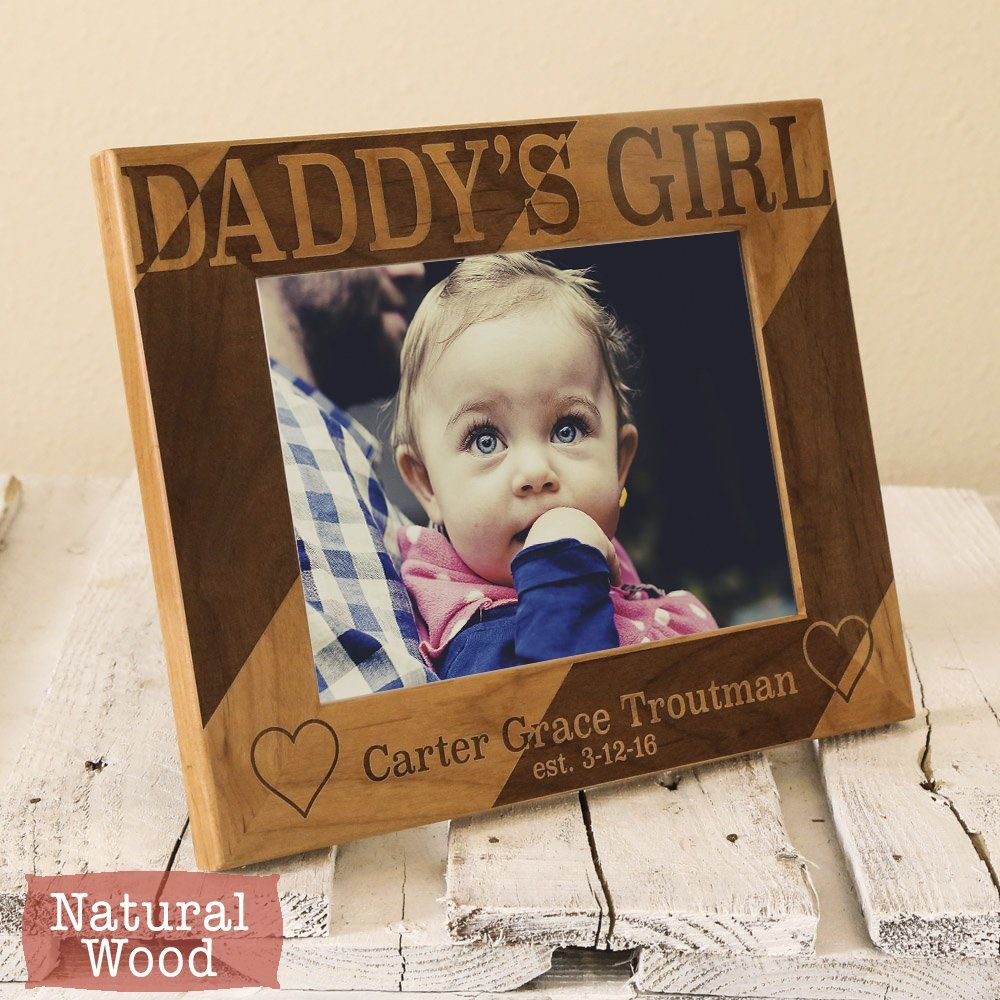 Personalized Dad Picture Frame Gift From Daughters Fathers Day Daddys S