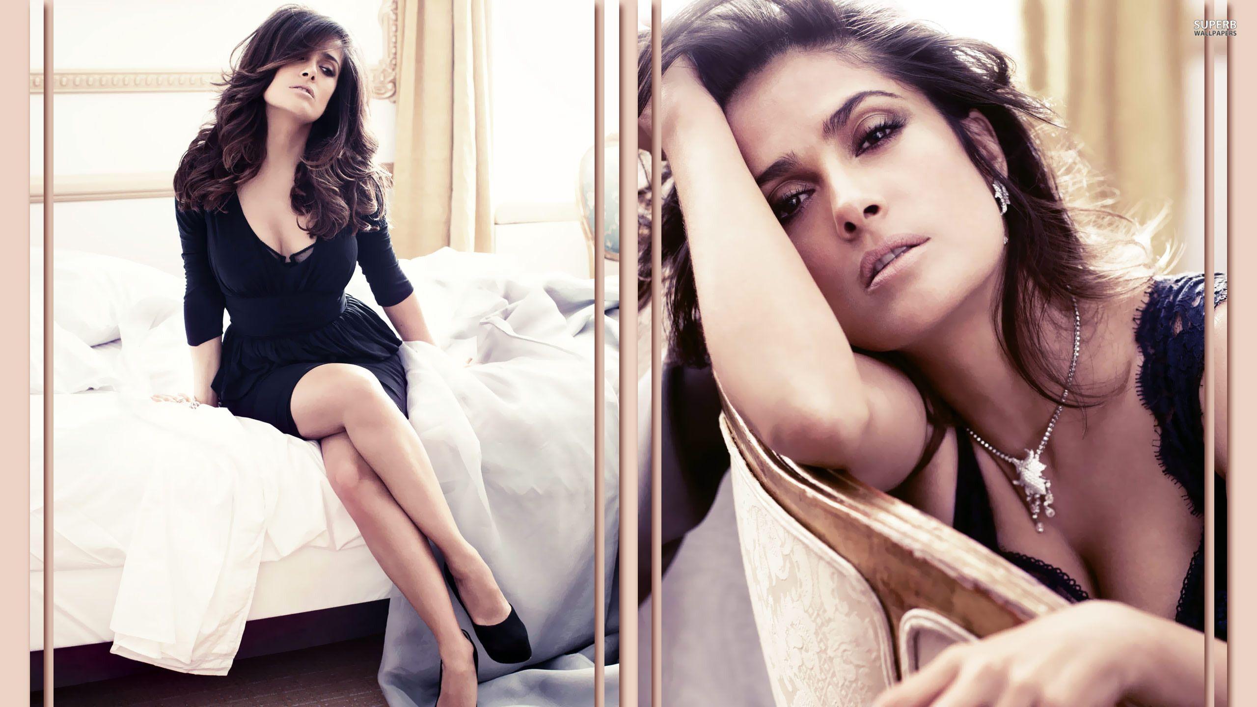 Beautiful Woman Salma Hayek Wallpaper CloudPix