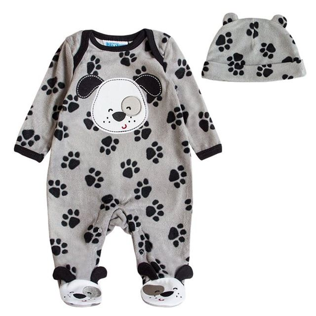 f404804eb498 Fair price Super Warm Baby Boys Girls Cartoon Hooded Romper Newborn ...