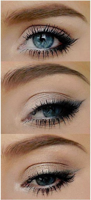 Photo of Schlichtes Augen Make-up für den täglichen Gang zur Arbeit.