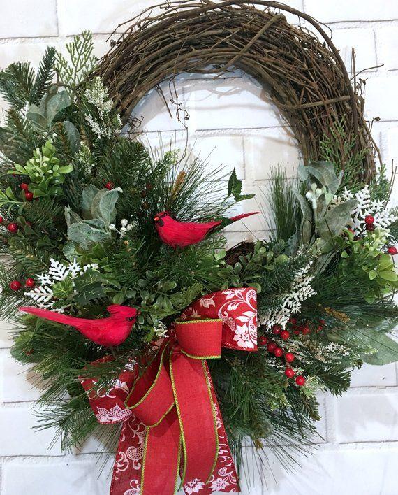 Photo of Winter Wreaths, Christmas Wreaths For Front Door, Woodland Wreath, Natural door Wreath