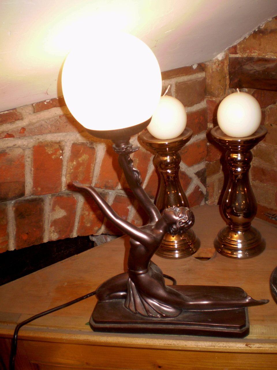 Danish Art Deco style table Lady Lamp, Design no GR1196
