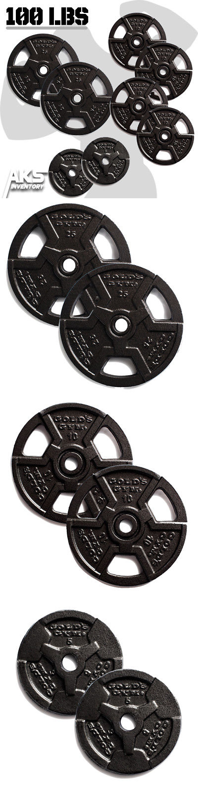 Weight Plates 179817 100 Pound Standard Weight Plate Set Home Gym Fitness Exercise Plates 1  sc 1 st  Pinterest & Weight Plates 179817: 100 Pound Standard Weight Plate Set Home Gym ...