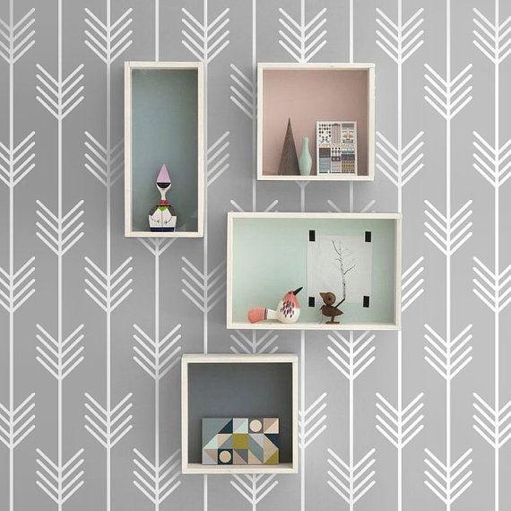Grey Arrows Hipster Seamless Pattern Peel Stick Etsy In 2021 Scandinavian Design Living Room Scandi Kids Room Seamless Patterns