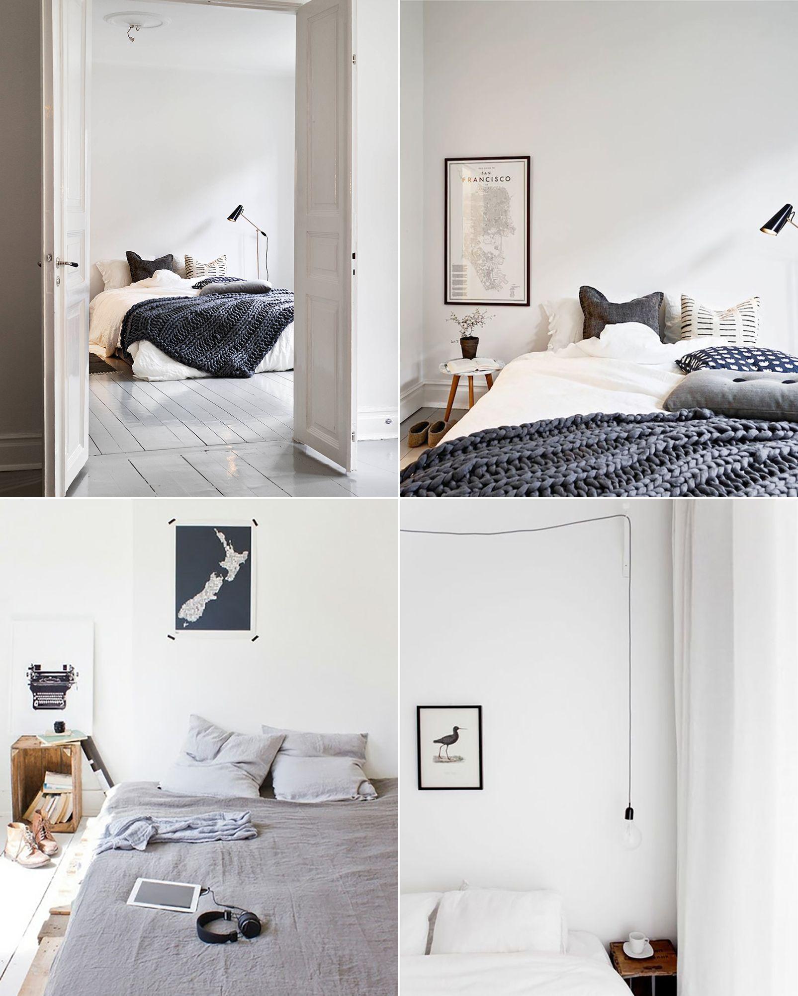 Scandinavian Bedroom Inspiration White Grey Simple Minimalist Natural Wood Bedroom Inspiration White Bedroom Inspirations Bedroom Design