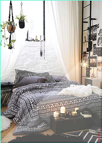 Home Accessory Bedding Bedroom Drap Chambre Aztec Hippie Cute