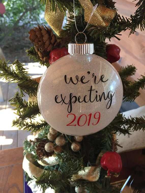 Expecting Christmas Ornaments.We Re Expecting 2019 Christmas Ornament Couples Baby Shower